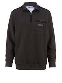 Sweatshirt med spesialsnitt