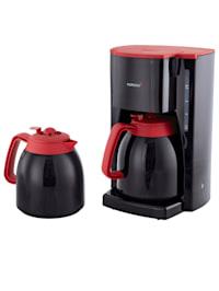 EXKLUSIV-Set Thermo-Kaffeeautomat 10315 mit 2 Thermokannen, schwarz/rot