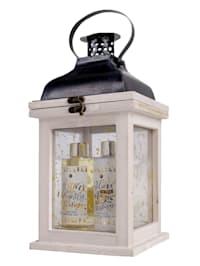 Verzorgingsset WINTER MAGIC In een fraaie houten lantaarn