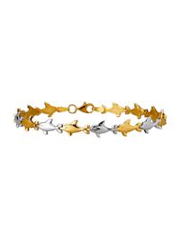 """Bracelet """"Dauphins"""" en or jaune 585"""