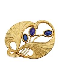 Broche à cabochon de lapis-lazuli