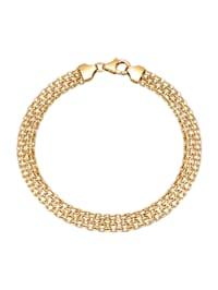 Gevlochten armband van 14 kt. goud