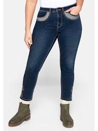 Jeans Skinny im Trachten-Look