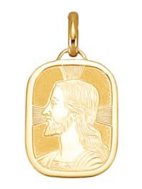 Jesus-Anhänger in Gelbgold 750