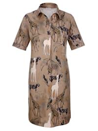 Kleid im Safari-Print
