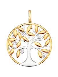 Lebensbaum-Anhänger mit Diamanten