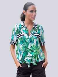 Strandblouse in overhemdmodel