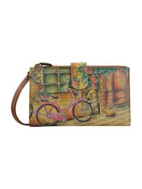 Brieftasche Vintage Bike (handbemaltes Leder)