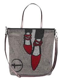 Shopper taška z metalického soft materiálu