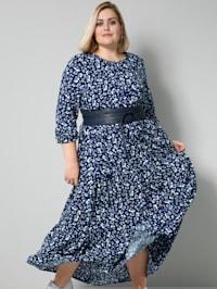 Web-Kleid mit Allover-Print