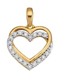 Hjärthänge med diamanter