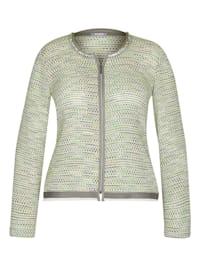 Jacke mit abstraktem Strick-Muster und Glitzerfäden