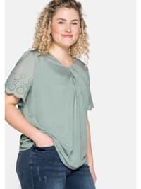 Shirt mit Flügelärmeln und Knotendetail