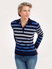 Pullover mit Saum-Stickerei