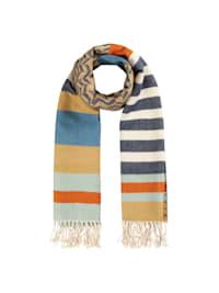 Softer Schal im stylischen Streifenmix