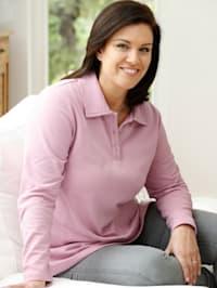 Sweatshirt mit dekorativem Polokragen