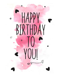 Metallschild, Birthday
