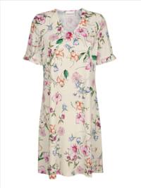 Nachthemd mit hübschem Rüschenabschluss an den kurzen Ärmeln