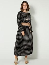 Maxi šaty s nariaseným pásom