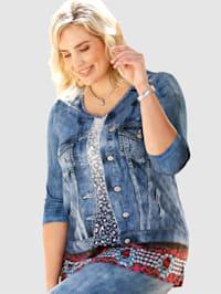 Shirt in raffinierter 2-in-1 Jeansjackenoptik