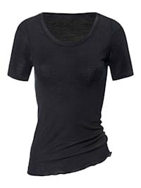 Kurzarm-Shirt aus Wolle-Seide STANDARD 100 by OEKO-TEX zertifiziert