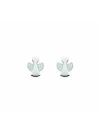 Damen Silberschmuck 925 Silber Ohrringe / Ohrstecker mit Zirkonia