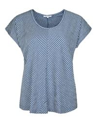 Shirt mit Streifenmuster Dekorative Nähte