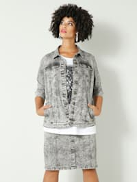 Jeansjakke i moonwashed-materiale