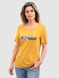 T-shirt à belle inscription
