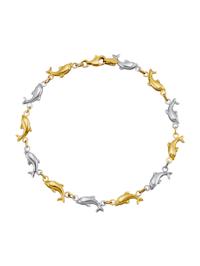 Bracelet dauphin en or jaune 585