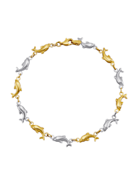 Delfin-Armband in Gelbgold 585