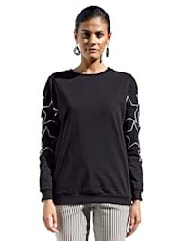 Sweat-shirt avec découpes mode