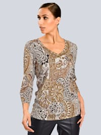 Pulóver s exkluzívnym Alba Moda dizajnom