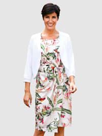Jerseykjole med trykt blomstermønster