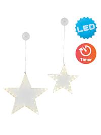 2er-Set LED Weihnachtsstern 'Star'