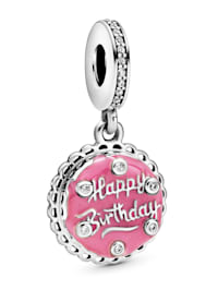 Charm-Anhänger - Rosafarbene Geburtstagstorte - 798888C01