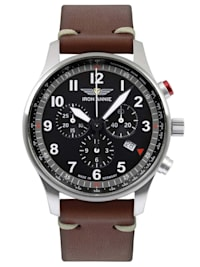 Herren-Chronograph F13 Tempelhof Braun/Schwarz