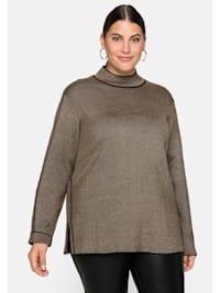 Pullover mit Stehkargen