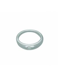 Damen Silberschmuck 925 Silber Anhänger Taufring mit Zirkonia Ø 10,9 mm