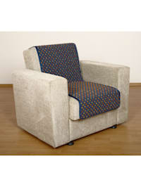 Sesselschoner Sitzflächenschoner Wolle Noppen ca. 150 x 50 cm blau