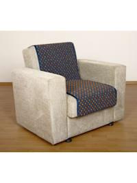 Sesselschoner Sitzflächenschoner Wolle Noppen ca. 175 x 47 cm blau