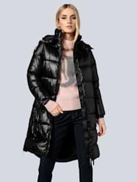 Mantel aus changierender Ware