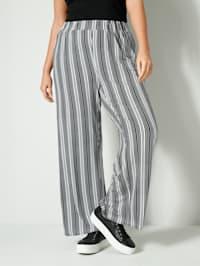 Pantalon en jersey à rayures devant et dos