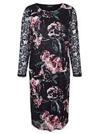 Krajkové šaty s pěkným květinovým potiskem