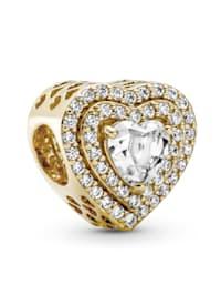 Charm -Funkelnde mehrstufige Herzen- 14K Gold 759517C01