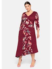 Kleid im Mustermix, in Wickeloptik