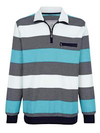 Sweatshirt mit aufwändigem Streifenmuster