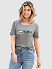 Shirt met mooi opschrift