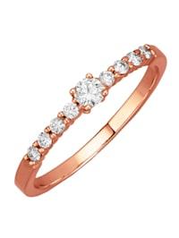 Roseekultainen timanttisormus