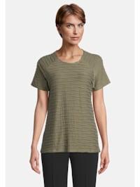 Basic Shirt mit Wellenstruktur